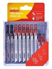 10Pc Hss Jigsaw Blades Set Black & Decker Dewalt Bosch Wood Metal Plastic Amtech