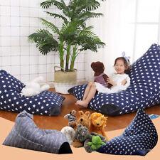 Kids Large Storage Bean Bag Stuffed Animal Plush Toy Soft Pouch Chair