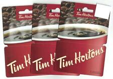 Tim Hortons 2016 CANADA GENERIC Hanger Fast card Red Coffee Cup ( 3 ) Gift Cards