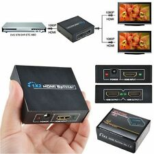 1x2 HDMI Splitter v1.4D ViewHD One Input to Two Output Top US Plug 1080P