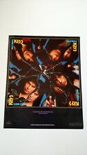 "KISS  "" CRAZY NIGHTS ""  (1987) RARE ORIGINAL PRINT PROMO POSTER AD"