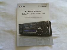ICOM  7610 Transceiver company Brochure color with  features, and info on 7610
