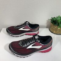 Brooks Ghost 10 Womens Running Shoes Black Pink Size 12