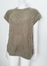 ALBUM by KENZO Sweater Vest Vintg Oversized w/Cable, Popcorn Stitch Made Italy M