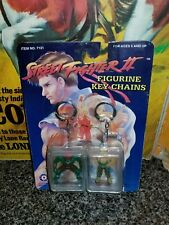 Vintage Street Fighter II Blanka & Guile Mini Figures MoC Keychains 1992 CapCom