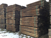 """Reclaimed Oak Railway Sleepers Grade """"A"""" (delivery available)"""