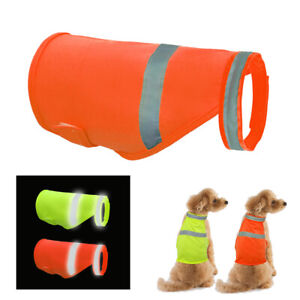 Dog Reflective Safety Vest High Visibility Pet Small Large Dog Jacket Hi Vis Viz