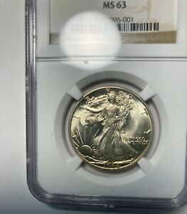 1944-D Walking Liberty Half NGC MS63