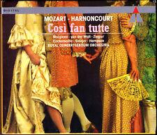 MOZART: COSI FAN TUTTE Thomas Hampson Margiono Cachemaille HARNONCOURT 3CD NEU