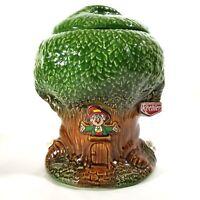 Vintage Keebler Elf Tree Cookie Jar #350 Ernie the Elf