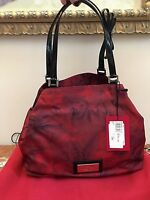 VALENTINO GARAVANI FLOWER-LAND ROSE PRINT Tote w/Patent Leather NEW with TAGS!