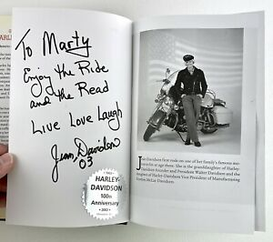 Growing Up Harley Davidson Jean Davidson Signed Autograph Book Limited Edition
