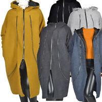 Wollemantel Mantel Jacke Wolle Grau Senf Kapuze A-Form 48 50 52 54 56 58