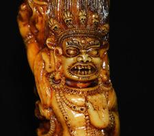 Tibetan antique old buddha mahakala statue amulet kapala pendant tibet ritual
