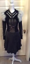 Tricot Chic, 3 Piece ,  Skirt, Top And Fur Shrug,NWT, Fit Uk , 10, Cost £690