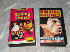 ROLLING STONES BEHIND THE BEAT HISTORICAL & ROLLING ON VERY RARE 2 NEW VHS