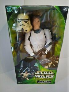 "Star Wars POTJ Han Solo Stormtrooper Disguise 12"" Hasbro Action Figure (2001)"