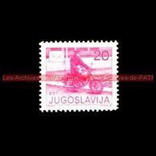 Postier à MOTO 20 PTT JUGOSLAVIJA YOUGOSLAVIE : Timbre Poste Stempel Stamp Sello