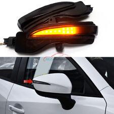 Black For Mazda CX-3 CX-4 CX-5 KE LED Dynamic Turn Signal Light Rearview Mirror