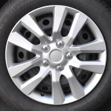 """Silver Snap-On Hubcaps Replacement Car Wheel Covers for 16"""" Rims (4 Pack)"""