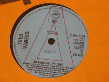 """Theo Vaness:  As long as it's love     PROMO  7""""   EX SHOP"""