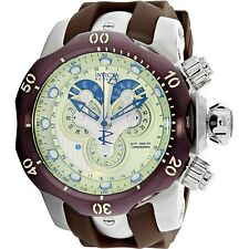 Invicta Mens Venom Master Calendar Analog Display Swiss Quartz Brown Watch