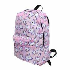 3D Unicorn Print Multi Color Rainbow Backpack Travel Rucksack School College Bag