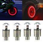4x Red Cars Auto Wheel Tire Tyre Air Valve Stem LED Light Caps Cover Accessories Alfa Romeo 156