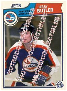 1983-84 OPC O Pee Chee Custom Jerry Butler Winnipeg Jets NHL #653