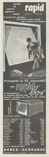 J0565 Autorimessa in acciaio zincato RAPID BOX - Pubblicità - 1967 Vintage Ad