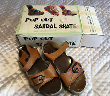 Vintage Pop Out Sandal Skates Shoe Hipster Retro Cool 1970's Size 6