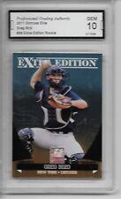 2011 Donruss Elite #99 Greg Bird Rookie Card NY Yankees Graded PGA 10 Gem Mint