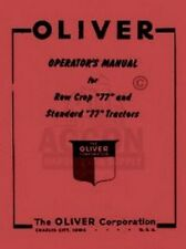 Oliver 77 Tractor Owners Operators Maintenance Manual