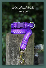 Dottie ribbon dog collar and lead 5 colours