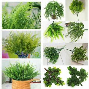 Künstliche Blätter Grünpflanze Kunstblumen Blumenstrauß Hochzeit Home Dekoration