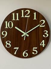 Luminous Wooden Round Wall Clock 000501