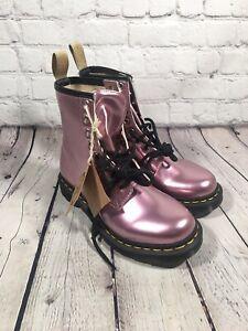 Dr. Martens Womens 1460 Vegan Pink Gold Mix Boot US 6 Rare