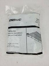 ClosetMaid 2178200 White Wire Shelf End Bracket (bag of 12)
