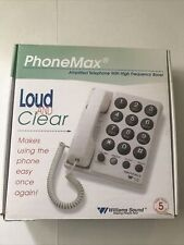 Phonemax Loud And Clear Amplified Telephone Williams Sound
