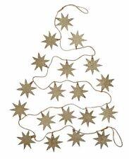 Holiday Lane Paper Silver/Gold Glitter Star Garland Christmas Xmas Decorations