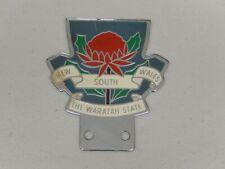 Vintage original en métal New South Wales la WARATAH état voiture badge Auto emblème