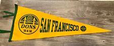 San Francisco Dons 1955 & 1956 NCAA Basketball National Championship Pennant