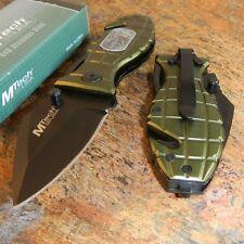 Mtech Black Finish Grenade Rescue Linerlock 440 STAINLESS STEEL Folding Knife