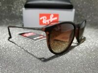 Ray-Ban Erika RB4171 865/13-54 Gradient Matte Brown Round Sunglasses