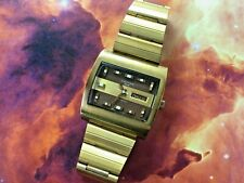 Vintage Croton 1878 Square Aquamatic Day/Date Swiss Automatic Watch Running