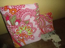RALPH LAUREN PINK GREEN ORANGE PAISLEY (2PC) HAND & BATH TOWEL SET 100% COTTON