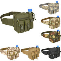 Military Hiking Camping Waist Bag Hip Fanny Pack Belt Water Bottle Rucksacks