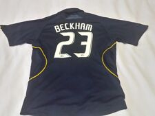 LA GALAXY ADIDAS FOOTBALL SHIRT for boys  size 13 - 14 years  #23 DAVID BECKHAM