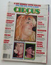 Circus Magazine Sept 1985 Motley Crue's  Vince Neil Cover/ Dokken Poster