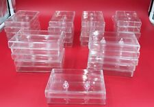 AUDIO CASSETTE JEWEL CASE - LOT OF 32 - REPLACEMENT CLEAR - FOR STORAGE